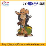 Custom Paint Enamel Metal Art Badge of Cartoon Hunter