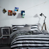 Black and White Stripe Printed Home Textile Comforter Bedding