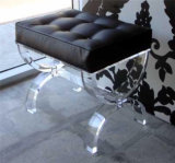 Clear Acrylic Shower Bench with Cushion