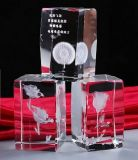 3D Laser Engraving Crystal Glass Cube Crafts Decoration