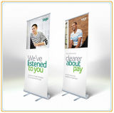 Retractable Aluminum Rollup Banner Stand with Custom Print Banner
