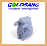 Cute Animal Tea Infuser Hippopotamus Silicone Tea Filter