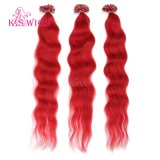 K. S Wigs 6A Grade Double Drawn U Tip Nail Hair Crazy Color Keratin Hair Extensions