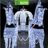 Christmas Mas Horse Carriage Decorative Motif Light for Theme Light Show