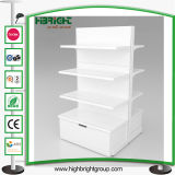 Convenience Grocery Store Shelf with Wooden Drawer