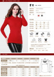 Gn1526ladies′ Yak Wool/Cashmere Round Neck Pullover Strentch Sweater/Garment/Clothes/Knitwear