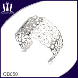 Custom Design Hollow out Stainless Steel Wide Cuff Bracelet