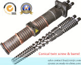 WPC/PVC/PE Extruder Conical Twin Screw Barrel