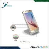 Factory Design Production Sales Dual Coils Smart Big Power Fast Wireless Charger Silver Housing
