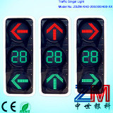 En12368 Approved Red & Green LED Flahsing Traffic Light / Traffic Signal with Arrows