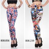 New Fashion Pattern Women 3D Print Stretchy Leggings (82230)