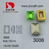 Glass Rectangle Diamond Pendant Stone (DZ-3006)