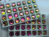 Rainbow Color Flat Back Sew on Stones Beads