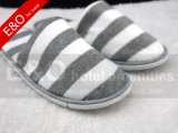 Cotton Terry Fabric Stripes Printing Hotel Room Slipper