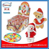 Plush Christmas Toy with Candy for Kids