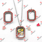 Floating Charms Locket O Shape Glass Locket Necklace Wholesale (FL147)