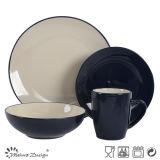 Ceramic Bicolor Stoneware 16PCS Dinner Set