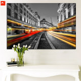 Big City View Oil Painting with Frame