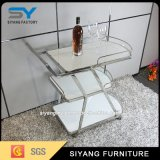 2016 Hot Three Layer Stainless Steel Kitchen Trolley with Wheels