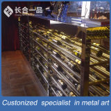 Wholesale Customized High-End Rose Gold Wine Cellar Cabinet for Bar/KTV