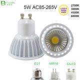 5W COB GU10 MR16 E27 LED Spot Lamp