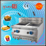 Df-72A Two Tanks Gas Deep Fryer with Thermostat