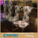 B8065 Wholesale Resin Chiavari Flower Fabric Dining Chair