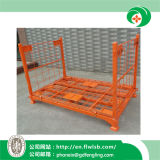 Folding Steel Wire Mesh Cage for Warehouse by Forkfit