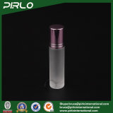 10ml Frosted Glass Roll on Bottle with Glass Roller and Red Cap