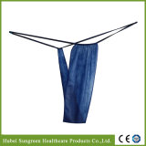 Disposable Non-Woven Dark Blue T-Back for SPA Wear