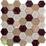 Stainless Mix Gloden Leaf Glass Mosaic (TG-OWD-565)