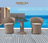 Outdoor Furniture Aluminum Rattan Table and Wicker Chair