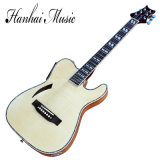 Hanhai Music/Original Wood Color Electric Guitar with EQ Pickup