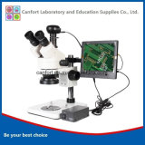 Digital Trinocular Stereomicroscope with CCD and LCD for Cellphone Repairs, Visual Inspection, Engraving/Surgical Exercises