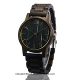 Best Sale Quality Water Resistant Wood Watch with Marble Face