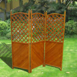Chinese Style Simple Decorative Outdoor Folding Screen Garden Wooden Guardrail