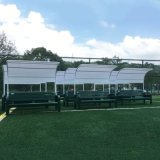 Soccer Team Shelter Bench Seat Outdoor for Sport Areas