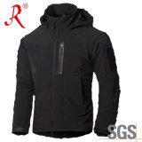Black Youth Softshell Jacket with Fleece Lining (QF-4125)