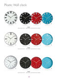 2017 New Plastic Wall Clock Various Design