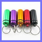 Novelty Keychain Aluminum Pill Box (SL-381)