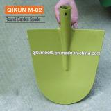 M-02 Round Shape Green Plastic Sprayed Garden Spade