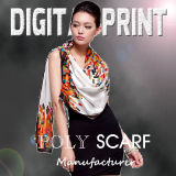 2017 100% Poly Square Scarf with Tassel