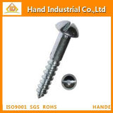 DIN96 Slotted Round Head Wood Stainless Steel Screw