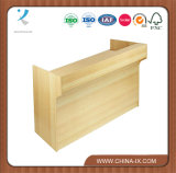 Wood Cash Wrap Retail Counter with Ledge