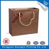 Embossing Special Paper Gift Packaging Bag with Ribbon Decoration