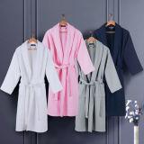 Luxury Egyptian Cotton Bath Linen Waffle Robe for Hotel /SPA/Hospital