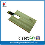 Wood Card Flash Memory Disk with Custom Logo Free