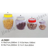 Round Body Storage Jar/ Glass Storage Jar for Food