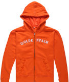 Fitted Zip up Fleece Hoodie, Men′s Sportwear (SW--466)
