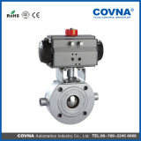 Flange Pneumatic Thin Type Heat Protected Ball Valve